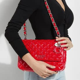 MELISE Patent Quilted Shoulder Bag (RED)