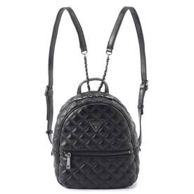 CESSILY Quilted Metallic Backpack (BLACK)