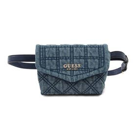 KAMINA Quilted Denim Convertible Crossbody Belt Bag (DENIM)