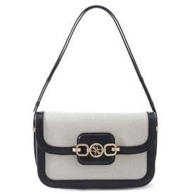 HENSELY Canvas Convertible Shoulder Bag (BLACK MULTI)