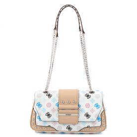 GRETA Peony Q Logo Convertible Crossbody Flap (WHITE MULTI)