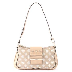 GRETA Peony Q Logo Top Zip Shoulder Bag (SAND)