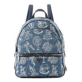 MANHATTAN Large Backpack (DENIM GRAFFITI)