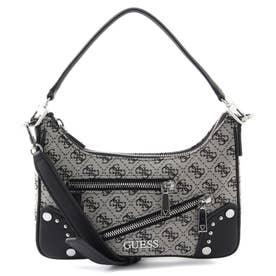 FRANKIE Top Zip Shoulder Bag (BLACK LOGO)
