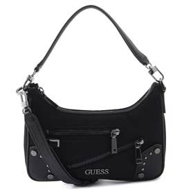 FRANKIE Top Zip Shoulder Bag (BLACK)