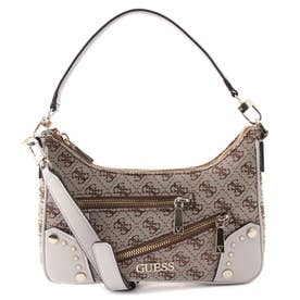 FRANKIE Top Zip Shoulder Bag (BROWN LOGO)