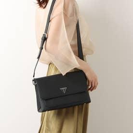 AMBROSE Flap Shoulder Bag (BLACK)