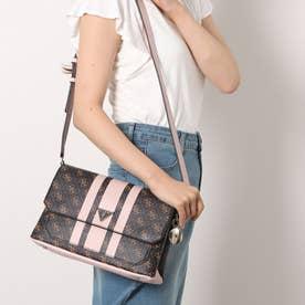 AMBROSE Flap Shoulder Bag (BROWN / BLUSH LOGO)