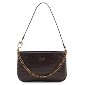 KATEY Mini Top Zip Shoulder Bag (BROWN)