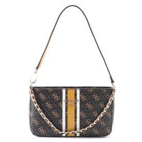 VIKKY Top Zip Shoulder Bag (BROWN)