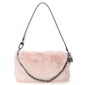 KATEY LUXE Mini Top Zip Shoulder Bag (ROSE)