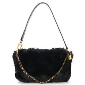 KATEY LUXE Mini Top Zip Shoulder Bag (BLACK)