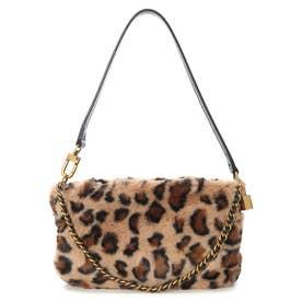 KATEY LUXE Mini Top Zip Shoulder Bag (LEOPARD)