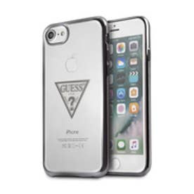 TRIANGLE LOGO TRANSPARENT TPU CASE for iPhone 8 (BLACK)【JAPAN EXCLUSIVE ITEM】
