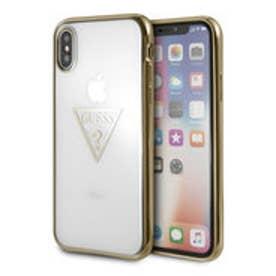 TRIANGLE LOGO TRANSPARENT TPU CASE for iPhone X (GOLD)【JAPANEXCLUSIVE ITEM】