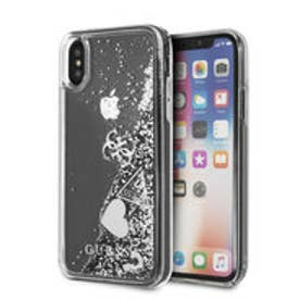 HEARTS GLITTER CASE for iPhone X (SILVER) (SILVER)