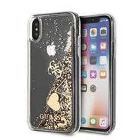 HEARTS GLITTER CASE for iPhone X (GOLD) (GOLD)