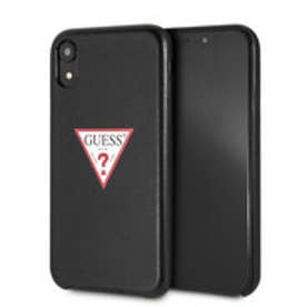 TRIANGLE LOGO PU LEATHER CASE for iPhone XR (BLACK) (BLACK)