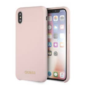 GOLD LOGO SILICONE CASE for iPhone X (LIGHT PINK) (LIGHT PINK)