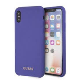 GOLD LOGO SILICONE CASE for iPhone X (PURPLE) (PURPLE)
