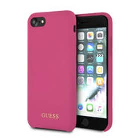 GOLD LOGO SILICONE CASE for iPhone 8 (PINK) (PINK)