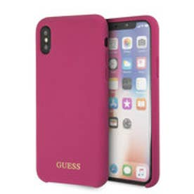 GOLD LOGO SILICONE CASE for iPhone X (PINK) (PINK)
