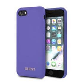GOLD LOGO SILICONE CASE for iPhone 8 (PURPLE) (PURPLE)