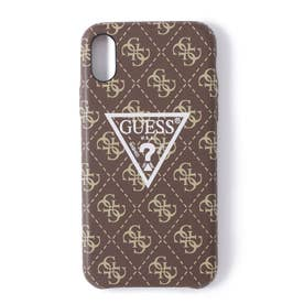 4G PATTERN LARGE TRIANGLE LOGO CASE for iPhone X (BROWN) (BROWN)