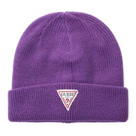 Triangle Logo Rib Beanie (PURPLE)