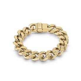 14Mm Curb 4Dc G Engr. Yg Bracelet (Gold) (GOLD)