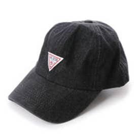 TRIANGLE LOGO DENIM 6 PANEL CAP (BLACK)