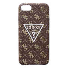 4G PATTERN LARGE TRIANGLE LOGO CASE for iPhone 8 (BROWN)