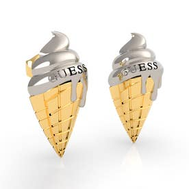 I MELT FOR YOU Pave Ice Cream Stud Pierce (Silver/Gold) (SILVER & GOLD)