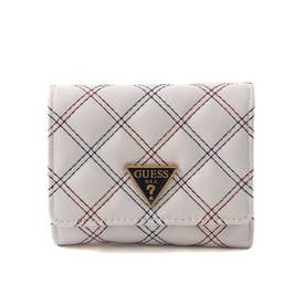 CESSILY Quilted Small Trifold Wallet (STONE MULTI)