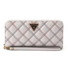 CESSILY Quilted Large Zip Around Wallet (STONE MULTI)