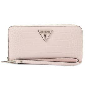 MADDY Croco Large Zip Around Wallet (PEONY)
