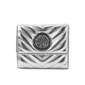 BLAKELY Metallic Quilted Small Trifold Wallet (SILVER)