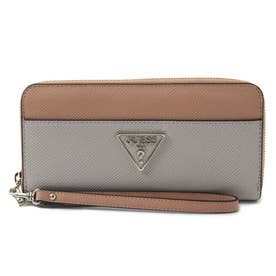 MADDY Large Zip Around Wallet (NATURAL MULTI)