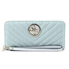 KAMRYN Quilted Denim Large Zip Around Wallet (DENIM)