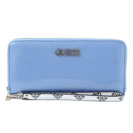 SOUTH BAY Patent Saffiano Large Zip Around Wallet (LILAC)