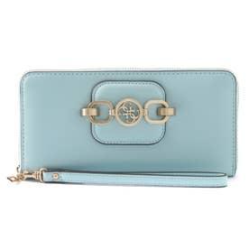 HENSELY Large Zip Around Wallet (AQUA)