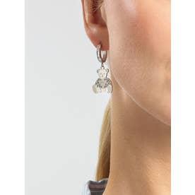 VINTAGE BEAR Bear Charm Huggies Earring (Silver) (SILVER)