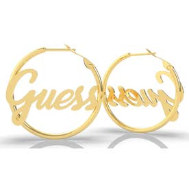 DREAM & LOVE Guess Hoops Pierce (Gold/30mm) (GOLD)