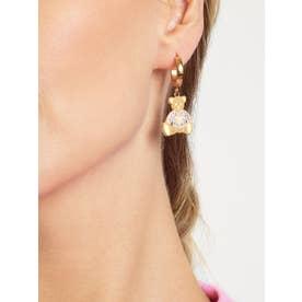 VINTAGE BEAR Bear Charm Huggies Earring (Gold) (GOLD)
