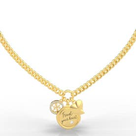 MY FEELINGS Trust Your Heart Charm Necklace (Gold) (GOLD)