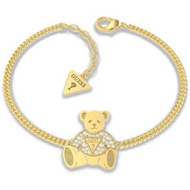 VINTAGE BEAR Bear Charm Chain Bracelet (Gold) (GOLD)