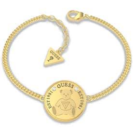VINTAGE BEAR Bear Coin Chain Bracelet (Gold) (GOLD)