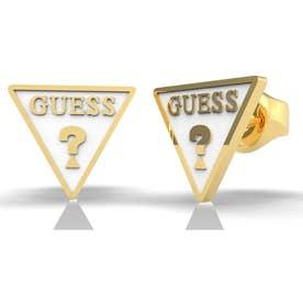 DREAM & LOVE White Triangle Logo Studs Pierce (Gold) (GOLD)