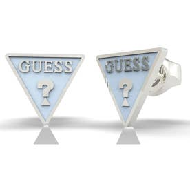 DREAM & LOVE Light Blue Triangle Logo Studs Pierce (Silver) (SILVER)