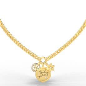 MY FEELINGS Trust Yourself Charm Necklace (Gold) (GOLD)